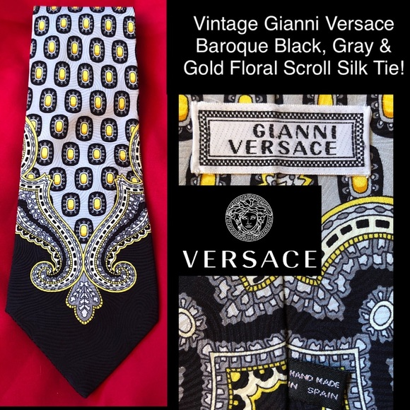 VTG Gianni Versace Baroque Floral Scroll Silk Tie!  M 5bb2af88de6f621e909ffe30 a01b7435a23b0